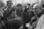 Mikhail Sergeyevich Gorbachev meets people in the Ural (April, 1990)